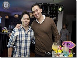 DJ Vince Golangco and BWDS VP Francis Simisim