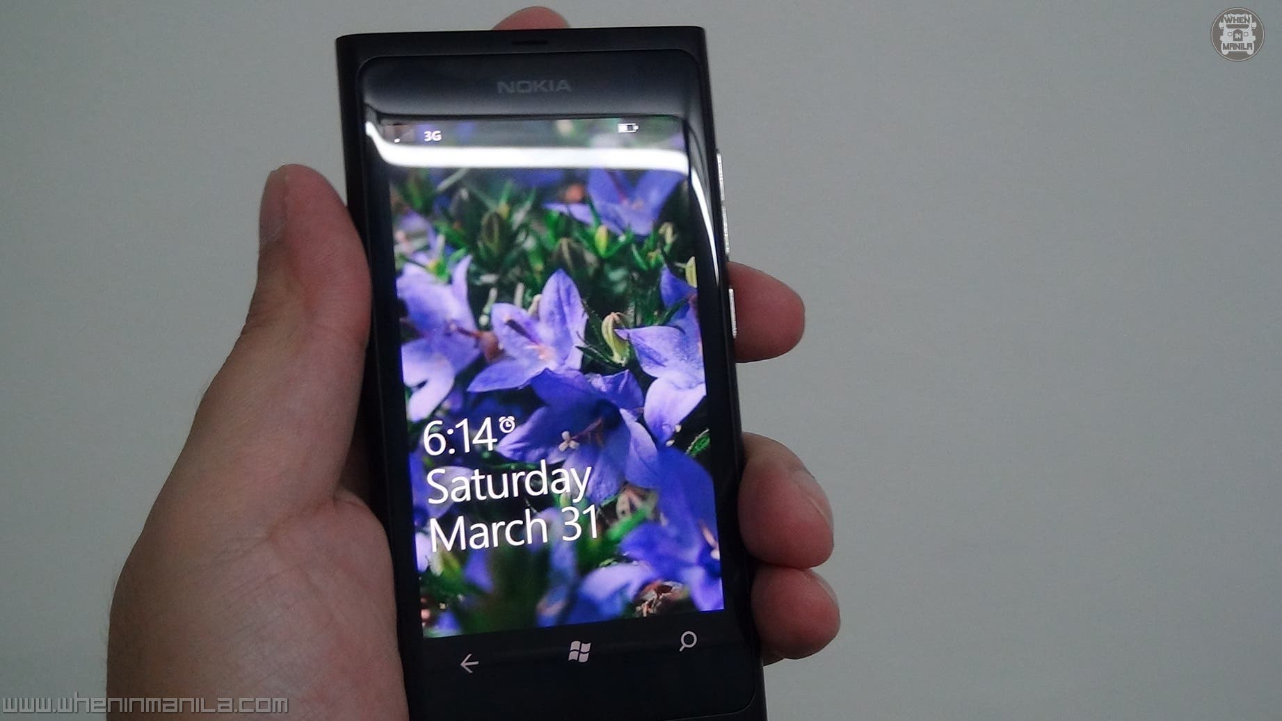 Lumia 800 front screen