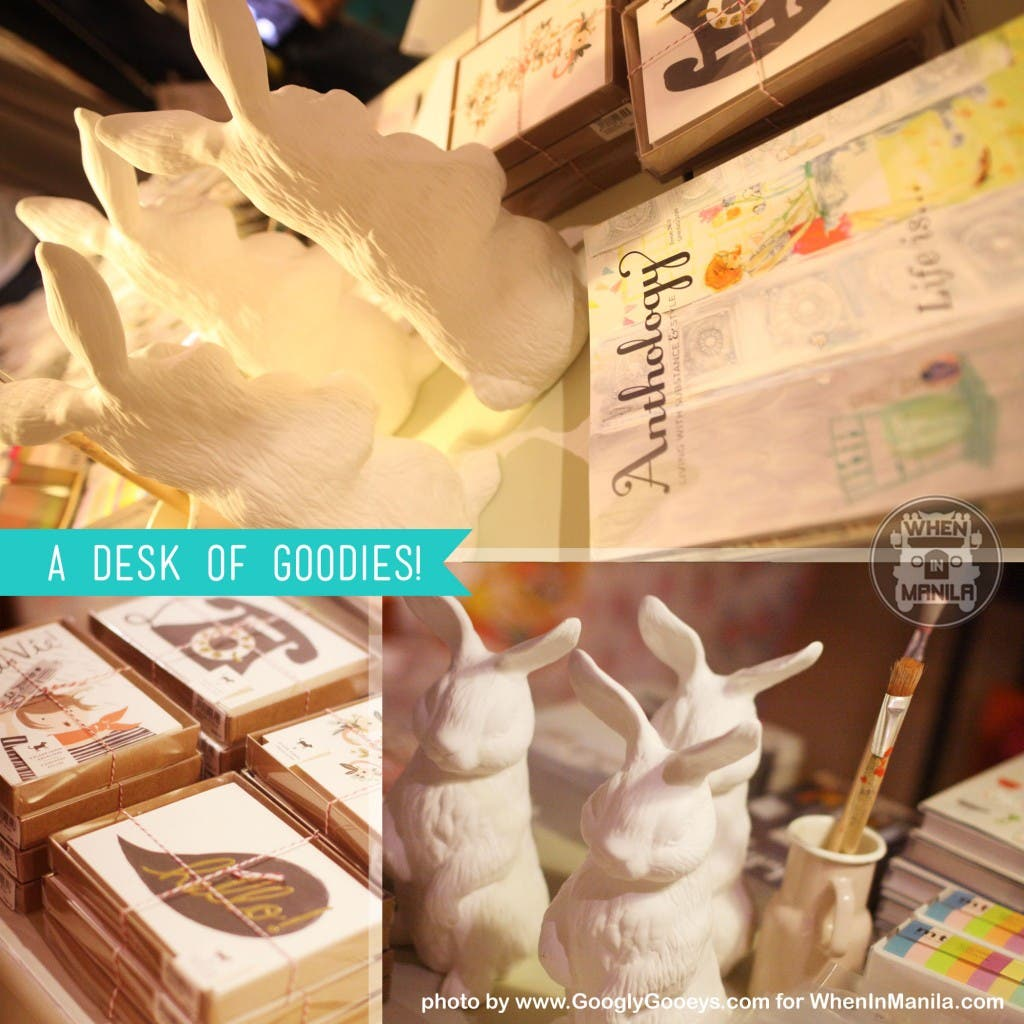 Above: Heima Store White Bunnies, Anthology Magazine Below: Paper Products from Rifle Paper Co