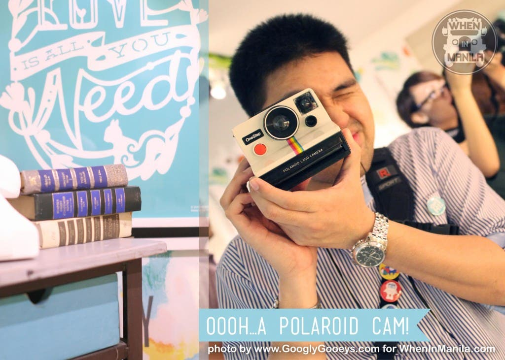 All things powder blue at Heima and Ponggo trying out a Polaroid Cam