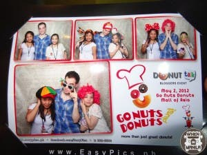 The Go Nuts Donuts Photobooth