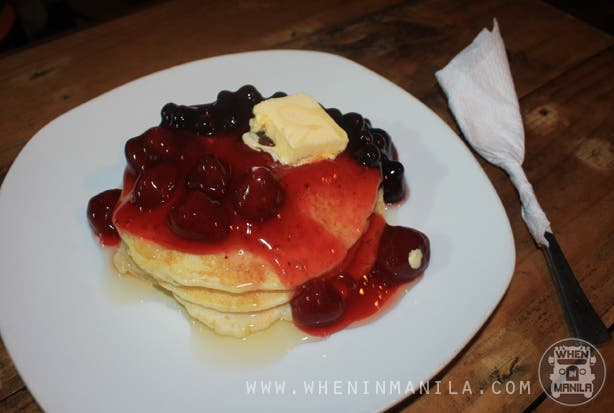 kanto breakfast strawberry and blueberry pancakes