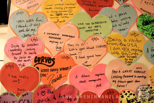 Curves Circuit Gym love notes