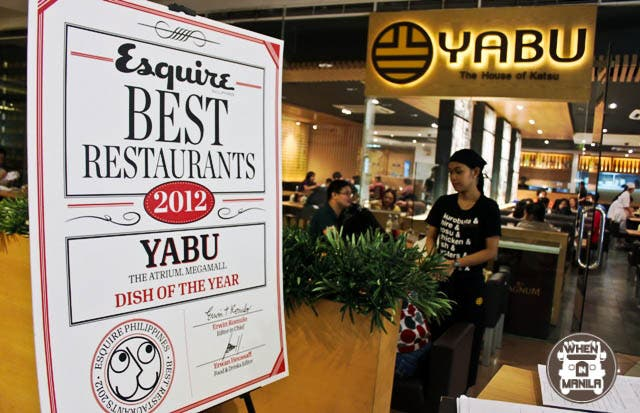 Yabu - Dish of the Year Awardee from Esquire Philippines