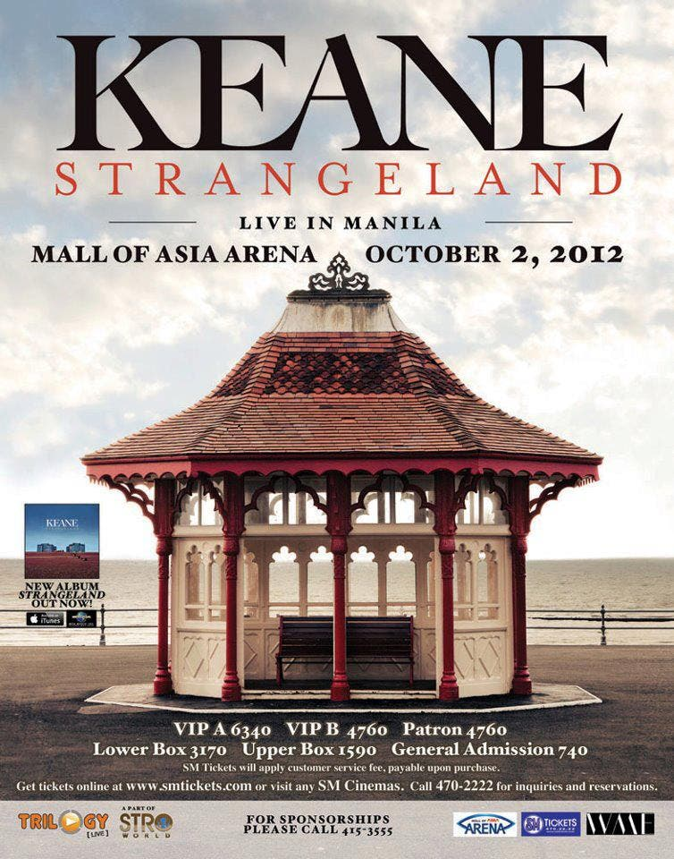 Strangeland Asian Tour Keane Live in Manila 2012