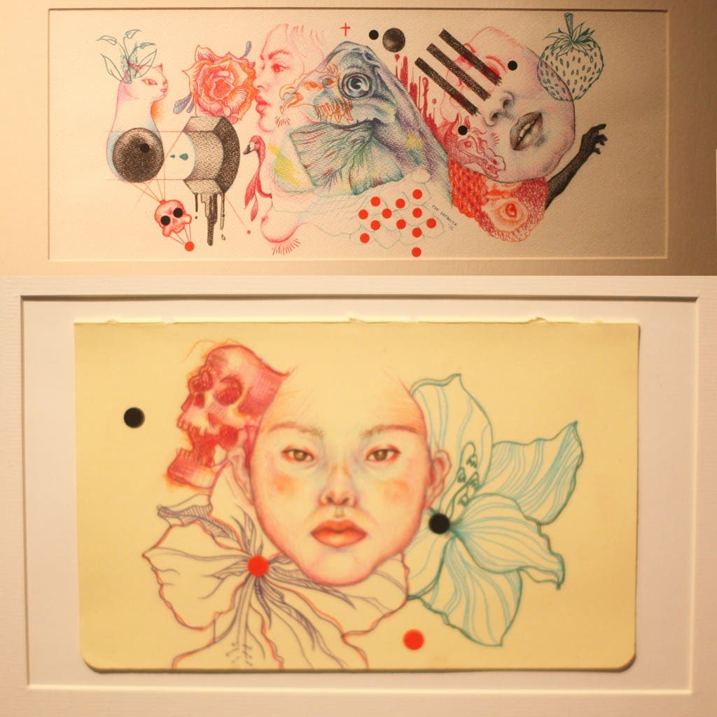 Tof Zapanta's Marking Dots & Colored Pencil Work on Watercolor Paper