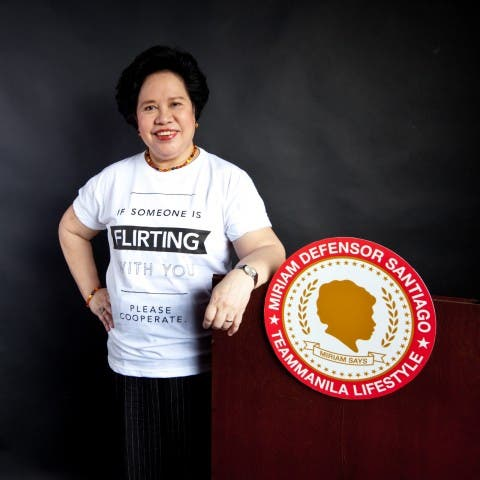 Sen. Miriam for Team Manila
