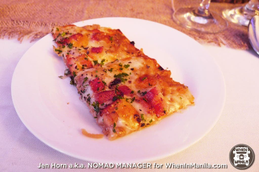 Onion Tarte Flambee by Chef Allan Buhay