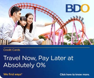 300x250px BDO travel now pay later