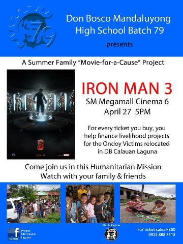 DBMHS '79 IRONMAN 3 Movie-for-a-Cause POSTER