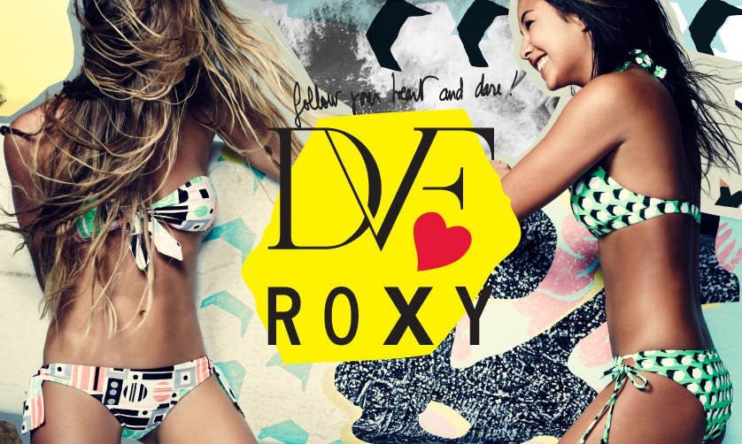 9567fe136e4d2 ... to get surfing inspiration) and the swimwear the girls are wearing  above are the latest in their racks – signature patterns of Diane Von  Furstenberg.