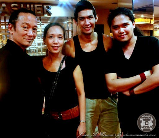Renowned Filipino Fashion Designer, Mr. Gerry Katigbak, myself, Maverick (fashion/ramp model) and, Karl Villamor