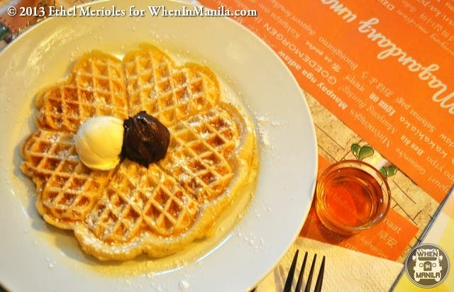 Allys All-Day Breakfast Place Personalized Waffle