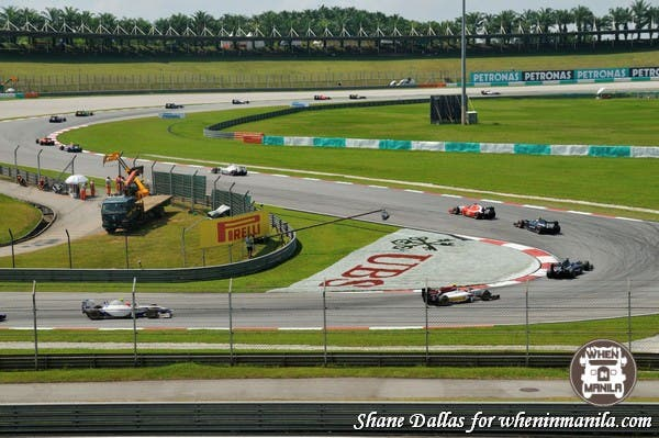 Great view of a support race - GP2 cars snake their way along the circuit.
