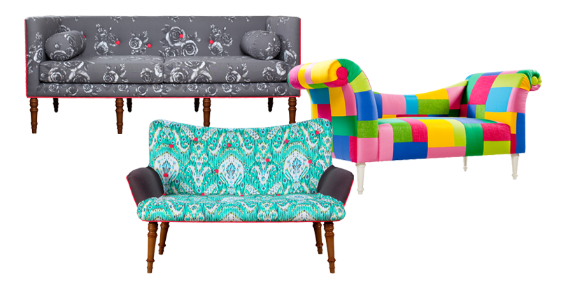 Set_Sofas - Twiggy Sofa, Charlotte Chaise Lounge, Molly Settee