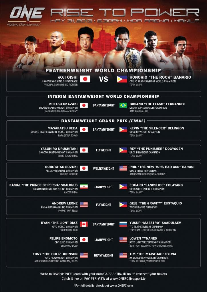Here's the full fight card if you're unfamiliar.