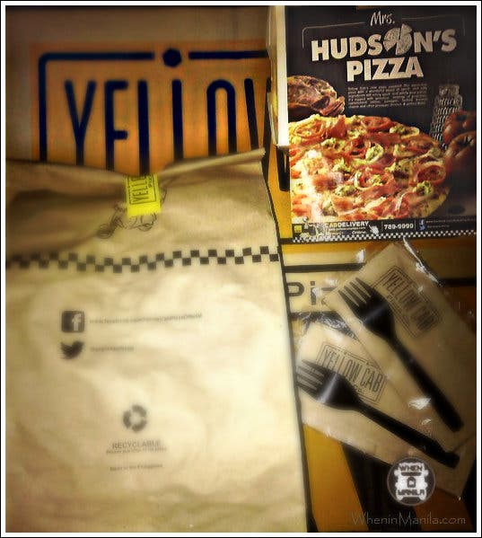 Delivery from Yellow Cab!!!