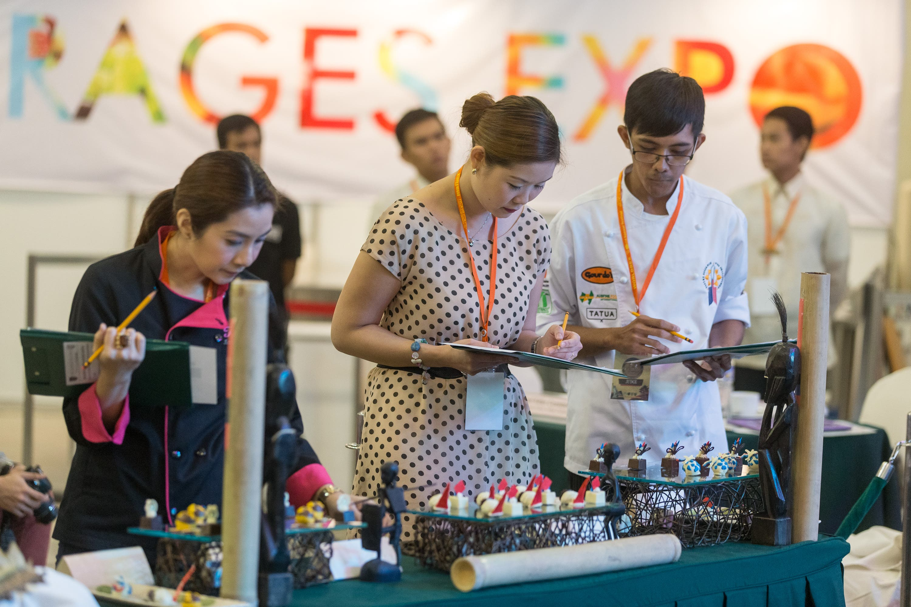 Experts judged the entries for the different competitions held during the 5-day expo.