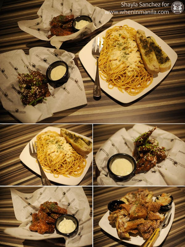 Buffalo Wings, Spaghetti Bolognese and Crispy Pata