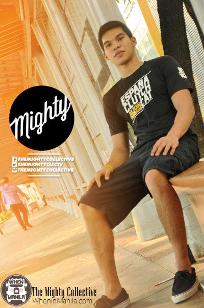 Aljon Mariano wears the Might Collective