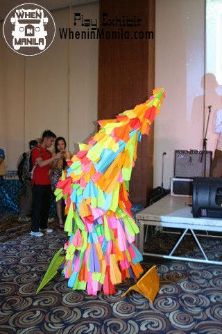This was comprised of a hundred origami art pieces!
