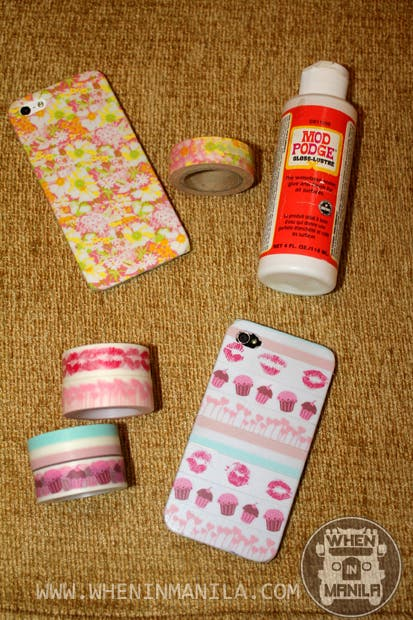 PAPER BLUSH IPHONE CASES WASHI TAPES