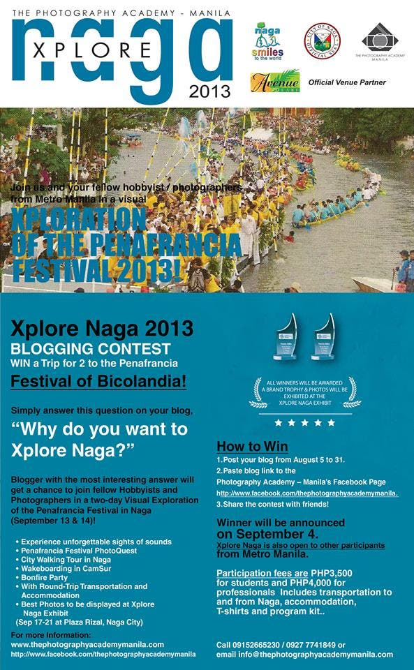 Xplore Naga 2013 , Visual Exploration of the Penafrancia Festival - Blogging Contest