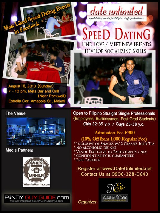 Speed dating events in manila