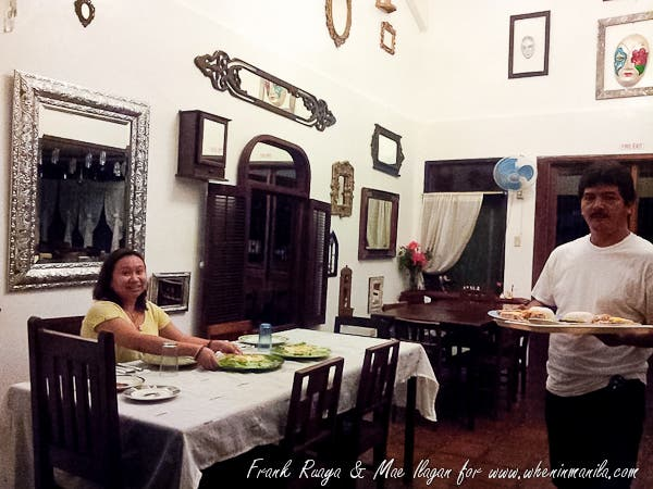 dinner right after arriving at Balay Indang around 10pm. We felt so at home!
