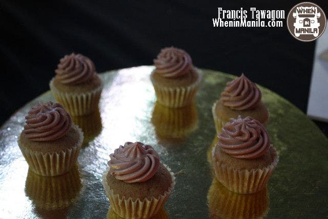 Redamon: Cinnamon cupcakes with wine-flavored frosting from THE CUPCAKE DEALER