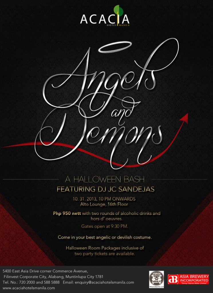Acacia Hotel ANGELS AND DEVILS POSTER (5)