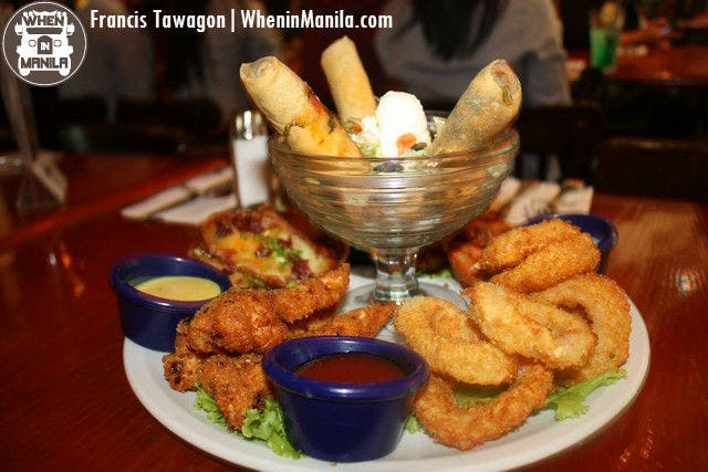 Thank you for our Jumbo Combo appetizers, Hard Rock!