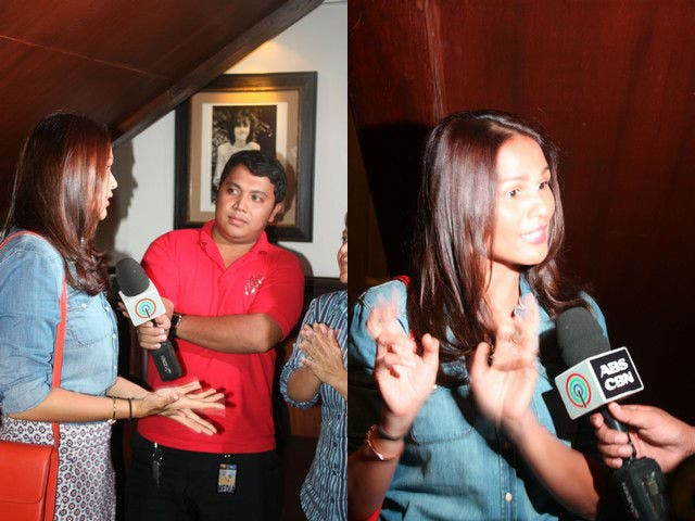 Iza Calzado is interviewed by ABS CBN.