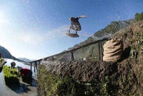 Brian Grubb Wakeskates the Banaue Rice Terraces