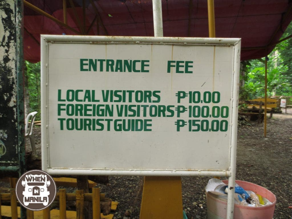 P10 for local, P100 for foreigners. Seems legit.