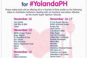 Dine for a Cause for Yolanda Victims