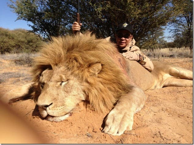 Chavit Singson Kills Lion and Antelope for his Birthday (1)