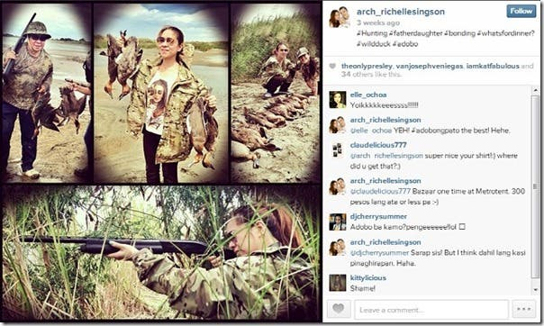 Chavit Singson Kills Lion and Antelope for his Birthday (2)