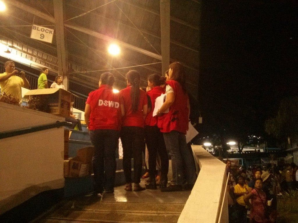 DSWD workers at the grandstand