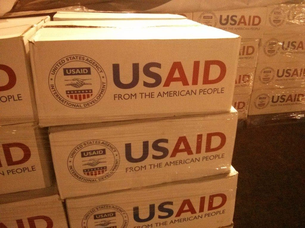 Supplies consisted both of relief goods packed by aid organizations as well as USAID disaster packs (pictured).