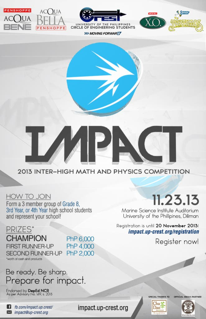 IMPACT 2013: Inter-High Math and Physics Competion