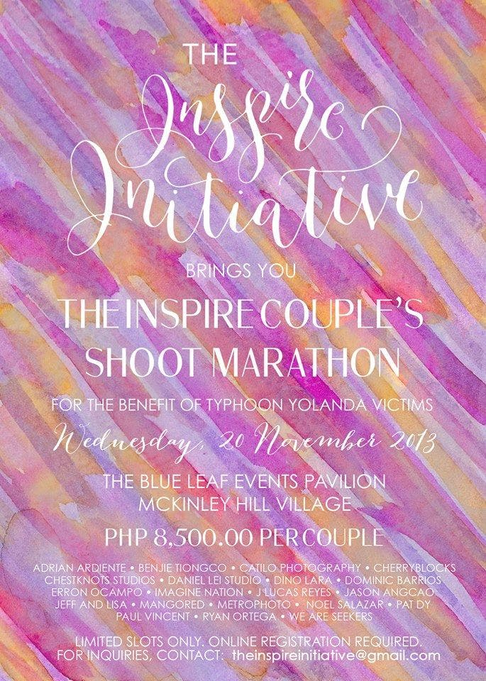 wedding suppliers help yolanda victims with the inspire initiative