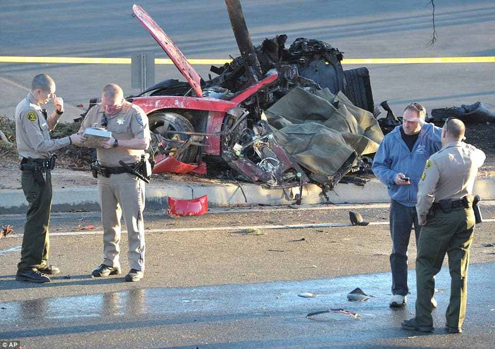Paul Walker Dead Fast and Furious Actor Dies in Car Accident Car Crash Photo