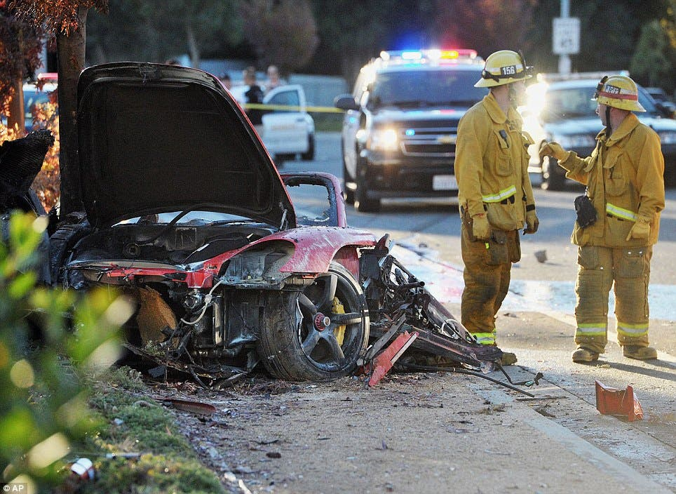 Paul Walker Dead Fast and Furious Actor Dies in Car Accident Car Crash Photos