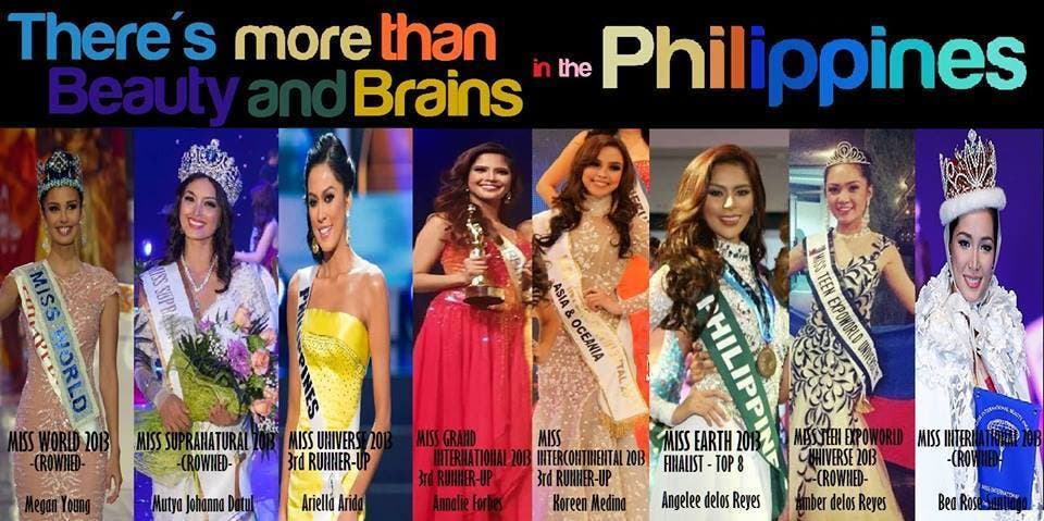 Philippines in Grand Slam Pageants 2013 Ms Philippines Wins Miss International