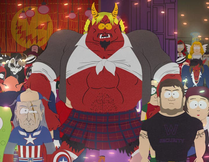 Satan's Sweet 16 Halloween party from South Park 1011