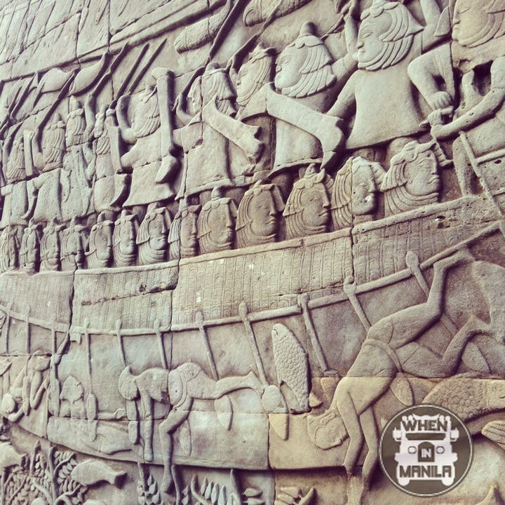 Bas-relief in Angkor Thom