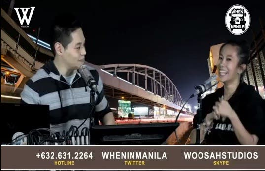 Woosah Studios Presents the LIVE WhenInManila Podcast LIVE by the Boys Night Out group WoosahStudios