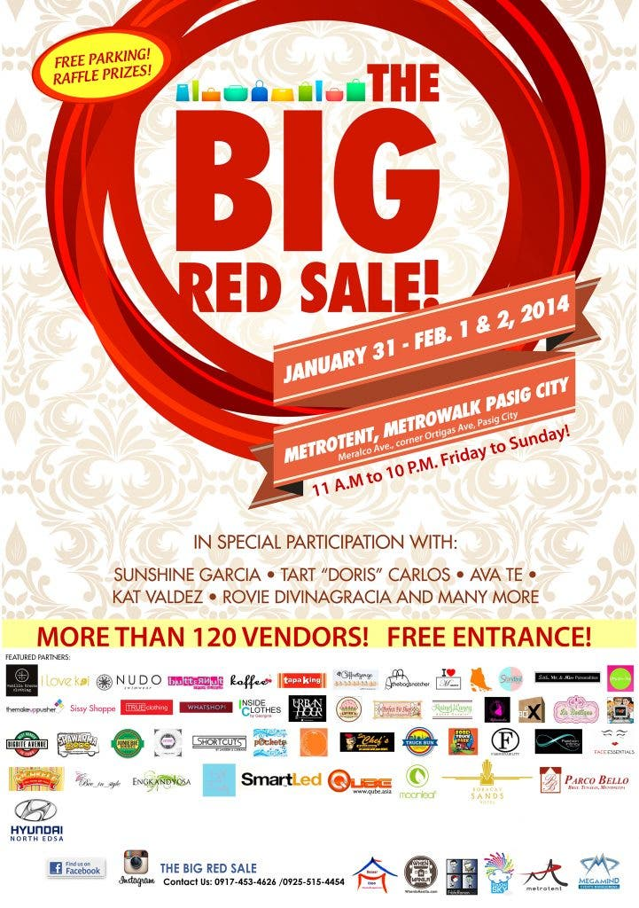 big red sale poster for printing copy