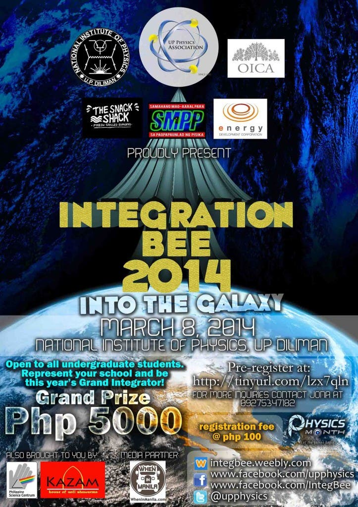 Integration Bee 2014 Official Poster